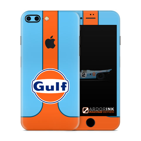 Apple iPhone 7 Plus Gulf Racing Full Coverage Skin Kit - ArdorInk