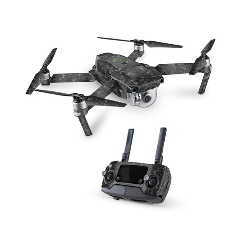DJI Mavic Pro Textured Forged Carbon Kit with Remote Skin