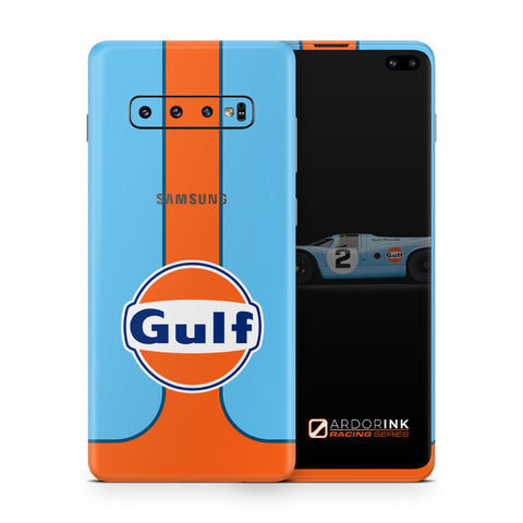 Samsung Galaxy S10 Plus Gulf Racing Full Coverage Skin Kit - ArdorInk