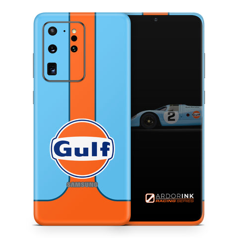 Samsung Galaxy S20 Ultra Gulf Racing Full Coverage Skin Kit - ArdorInk