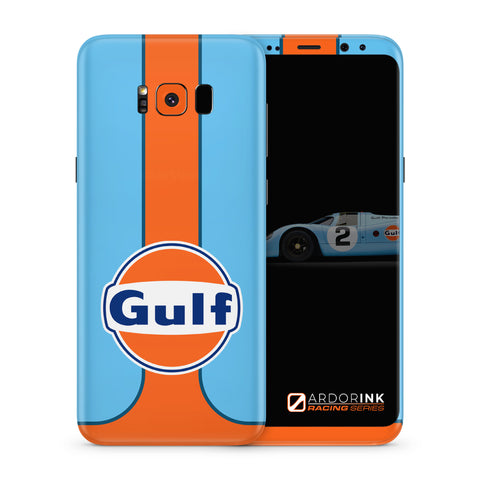 Samsung Galaxy S8 Plus Gulf Racing Full Coverage Skin Kit - ArdorInk