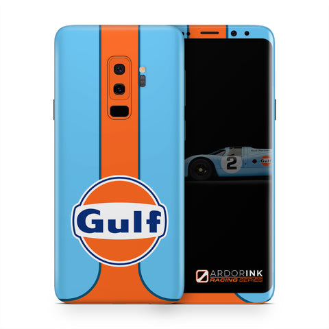 Samsung Galaxy S9 Plus Gulf Racing Full Coverage Skin Kit - ArdorInk