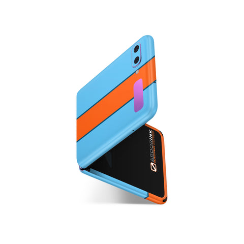 Samsung Galaxy Z Flip Gulf Racing Full Coverage Skin Kit - ArdorInk
