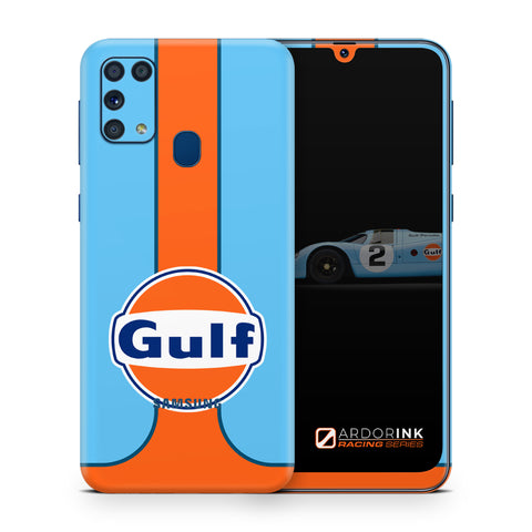 Samsung Galaxy M31 Gulf Racing Full Coverage Skin Kit - ArdorInk