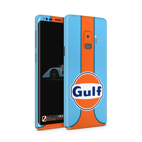 Samsung Galaxy S9 Gulf Racing Full Coverage Skin Kit - ArdorInk