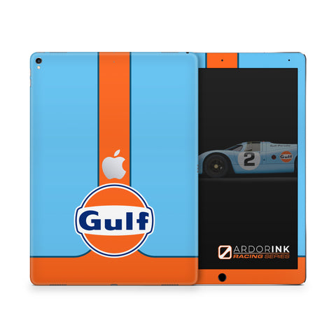 iPad 12.9 Inch 2nd Gen Gulf Racing Full Coverage Skin Kit - ArdorInk