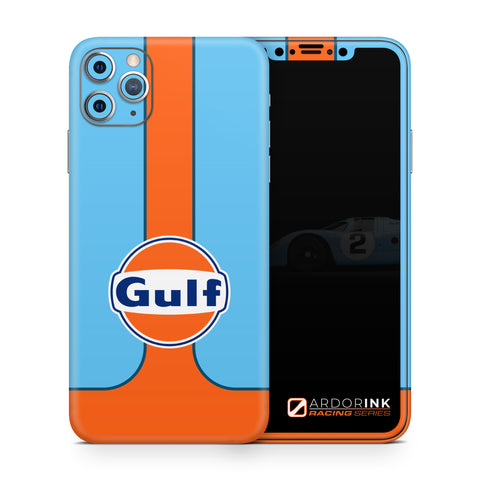 Apple iPhone 11 Pro Max Gulf Racing Full Coverage Skin Kit - ArdorInk