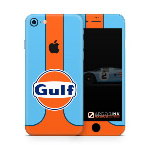 Apple iPhone 7 Gulf Racing Full Coverage Skin Kit - ArdorInk