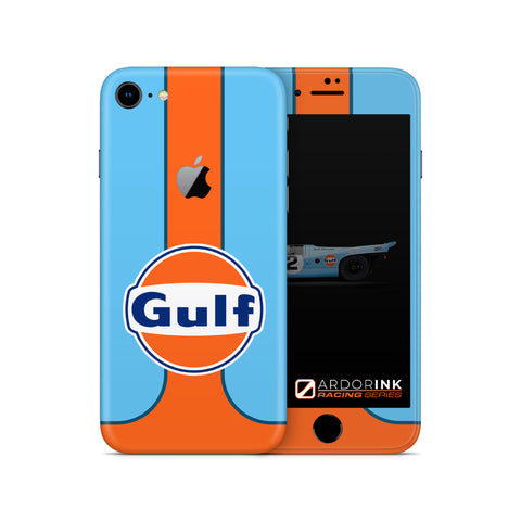 Apple iPhone 8 Gulf Racing Full Coverage Skin Kit - ArdorInk