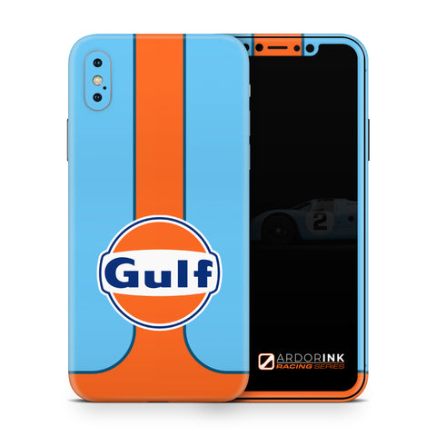Apple iPhone XS Max Gulf Racing Full Coverage Skin Kit - ArdorInk