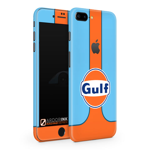 Apple iPhone 8 Plus Gulf Racing Full Coverage Skin Kit - ArdorInk
