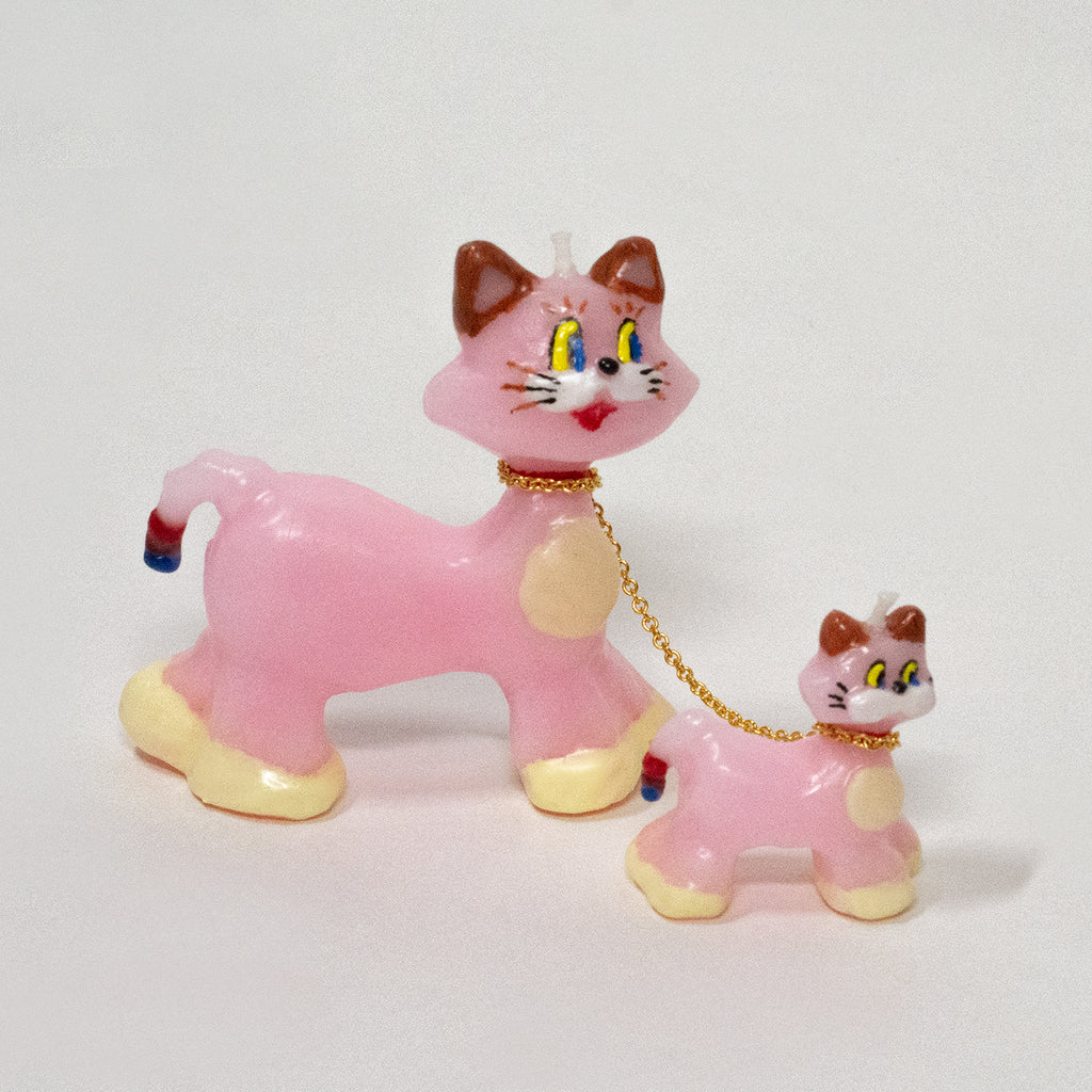 *SOLD OUT* Pink Cats Candle