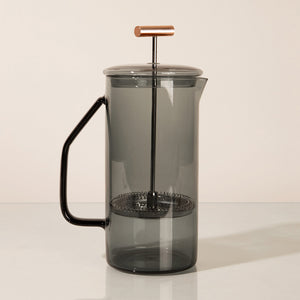 Grey Glass French Press