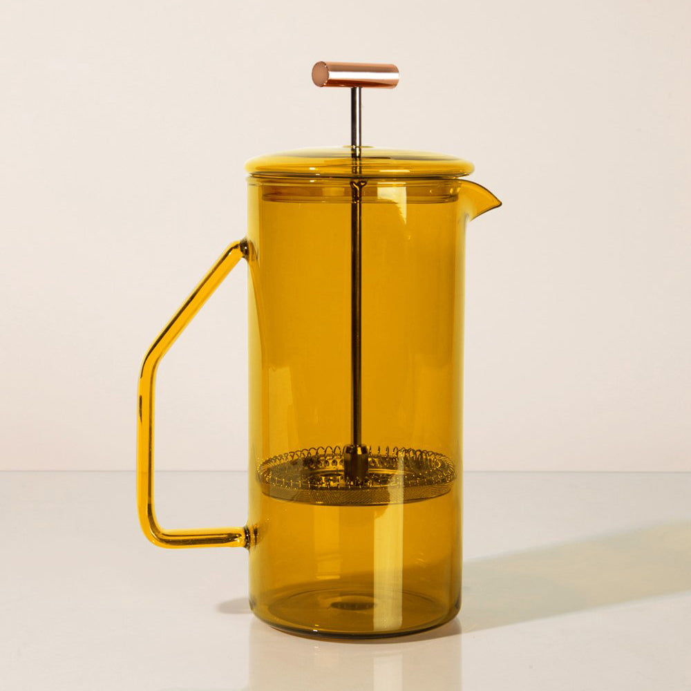 Honey Glass French Press