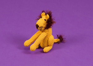Hand Crochet Lion Dog Toy