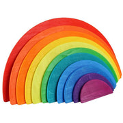 11 Piece Wooden Rainbow Semi Circle Stacker
