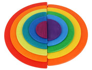 11 Piece Wooden Rainbow Semi Circle Stacker top