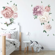 140-172 cm Huge Peony Flowers Wall Stickers in kid's bedroom