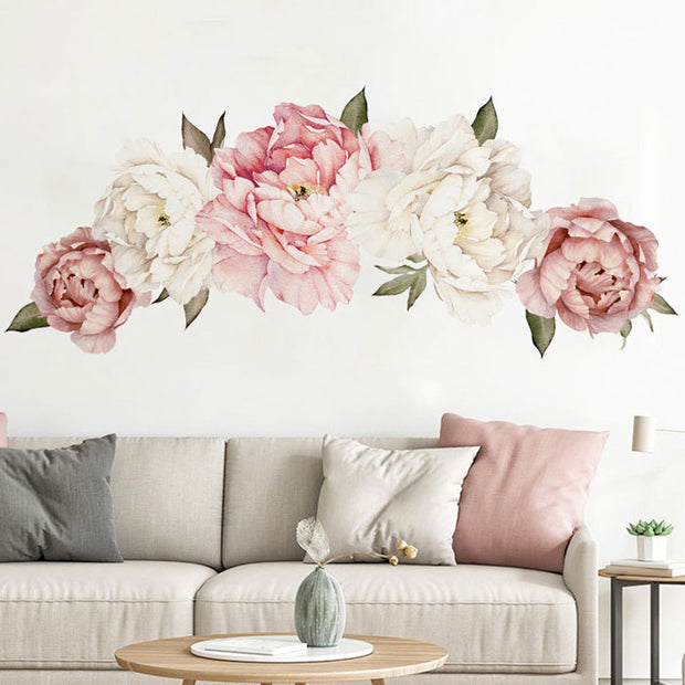 150-63 cm XL Peony Flowers Baby Nursery & Kid's Room Wall stickers front