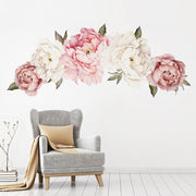150-63 cm XL Peony Flowers Baby Nursery & Kid's Room Wall stickers in living area