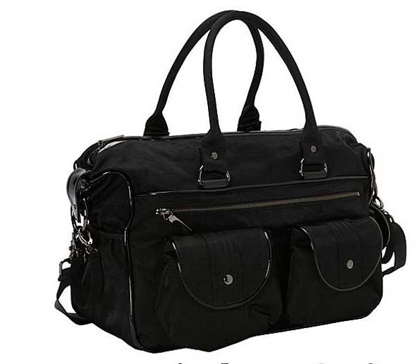 OIOI Black Wash Nylon Carry all Nappy Bag