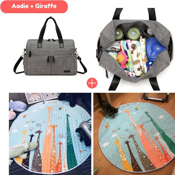 Aadie Nappy Bag + Playmat