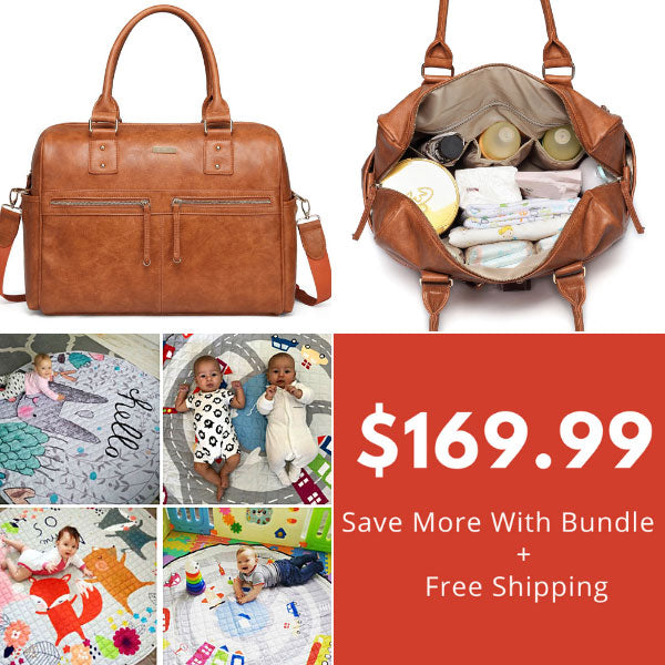 Adele Tan Nappy  Bag & Baby Playmat