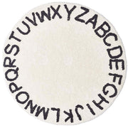 Alphabet Round Off White Cotton Baby Play Mat 120 x120 cm