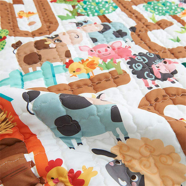 Amazing Maze Baby Play Mat Print Close up