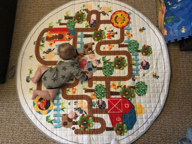 Amazing Maze Baby Play Mat With Baby
