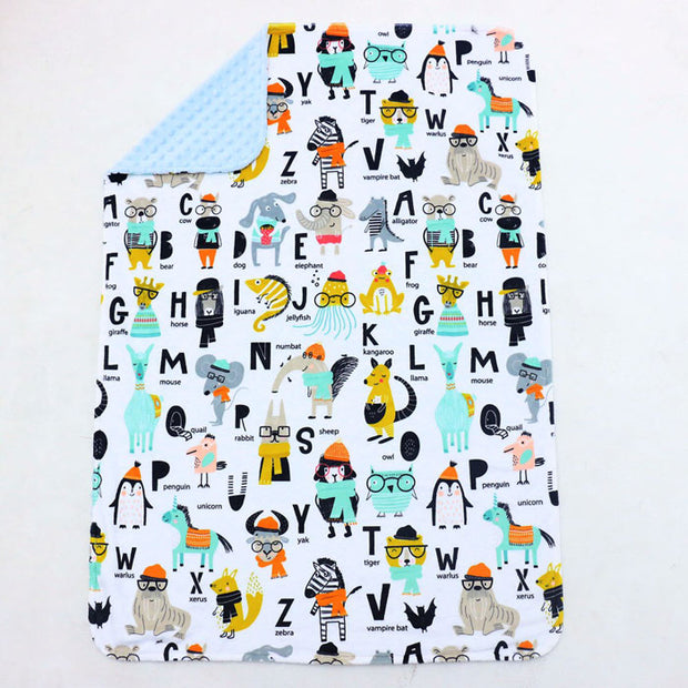 Animals Name Baby Blanket