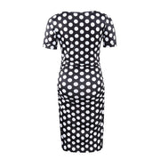 Ariah Polka Dot Maternity Dress Backside
