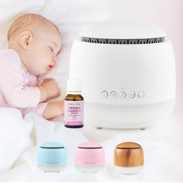 Aroma Snooze Sleep Aid White Diffuser front
