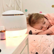 Aroma Snooze Sleep Aid White Diffuser with baby 2