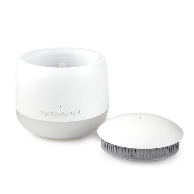 Aroma Snooze Sleep Aid White Diffuser with lid open