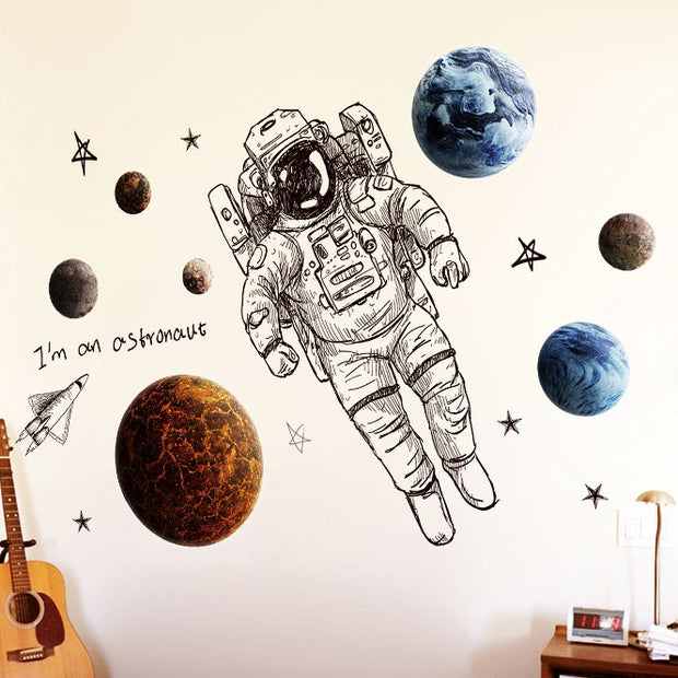 Astronaut Nursery Wall Sticker