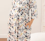 Audrey Maternity Robe Set side pocket