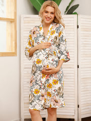 Audrey Maternity Robe Set with swaddle wrap, beanie & headband main