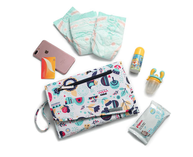 Aurora Nappy Wallet with items