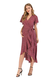 Ava Rose Maternity Wrap Dress front 2