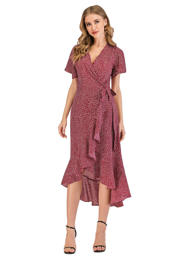 Ava Rose Maternity Wrap Dress front