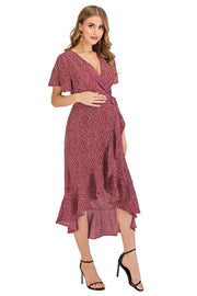 Ava Rose Maternity Wrap Dress side 2