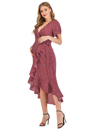 Ava Rose Maternity Wrap Dress side