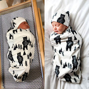 Bear Baby Swaddle Sack with beanie customer image