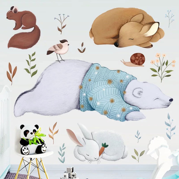 Bear & Friends Baby Nursery Wall Sticker 2