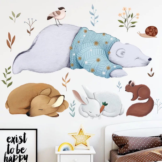 Bear & Friends Nursery Sticker