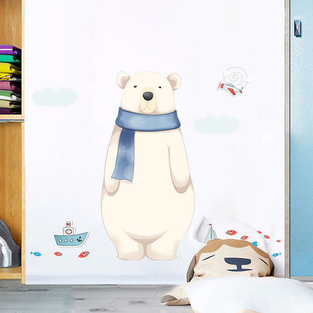 Big Polar Bear Baby Nursery Wall Sticker