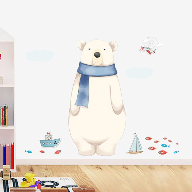 Big Polar Bear Wall Sticker