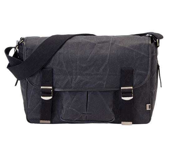 Crushed Waxed Canvas Satchel - OIOI