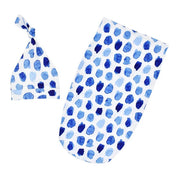 Blue Dots Baby Swaddle Sack in white background